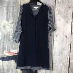 LOFT Ann Taylor Navy Blue Dress Size Small